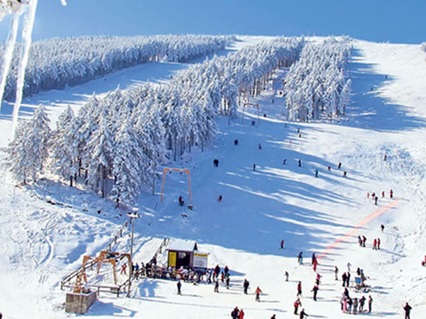 Ski staza na banjskoj strani Goča