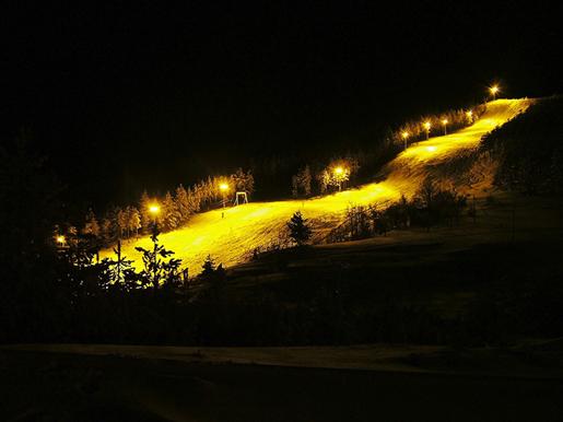 Ski staza nocu na Goču - banjska strana