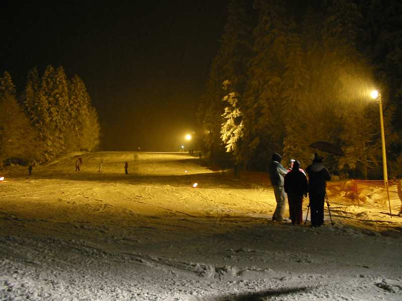 Ski staza nocu na Goču - kraljevacka strana