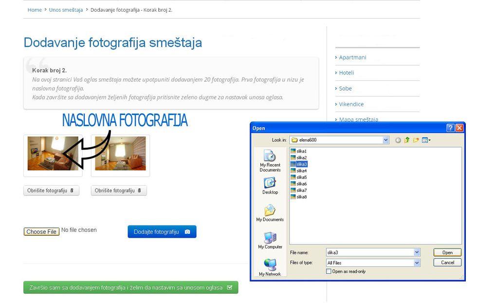 Goč - postavljanje oglasa - uputstvo slika 2.